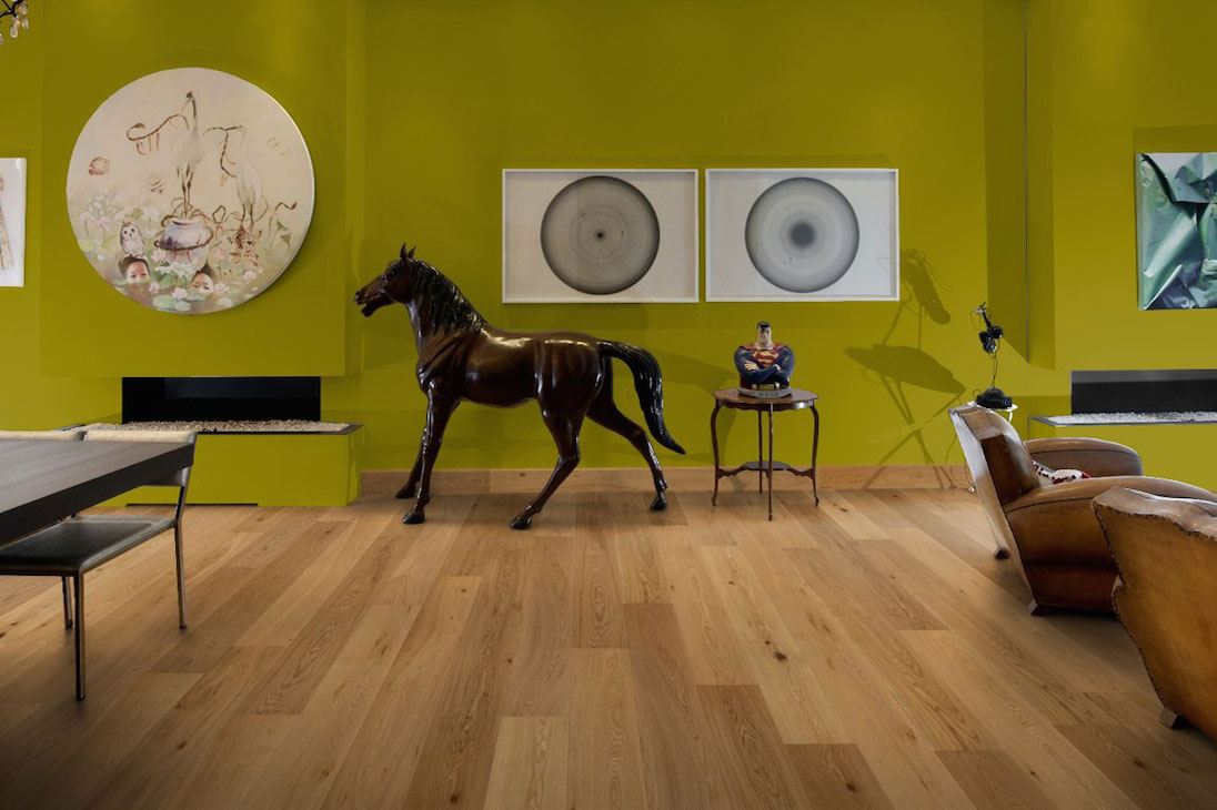 Living Room With Horse